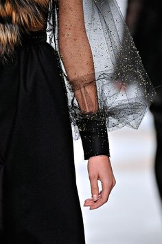 Black Gauze Sleeve Fendi Collection Statements Santa Fe