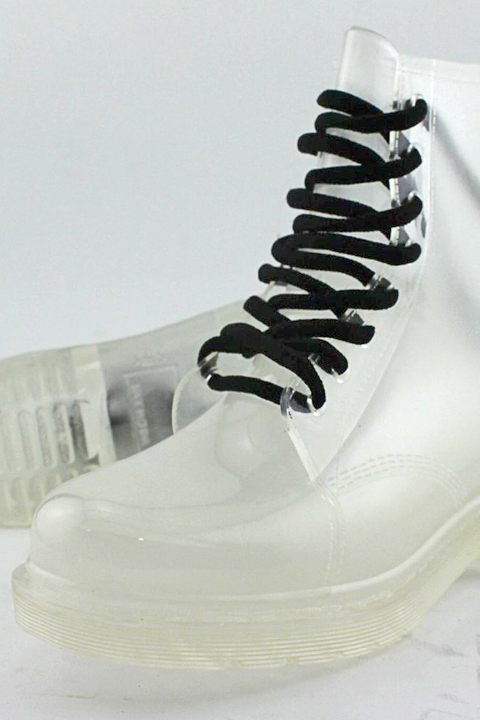 Clear Rubberella women's rain boots.
