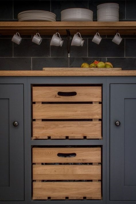 Sustainable Kitchen's Unusual Kitchen Cabinet Design