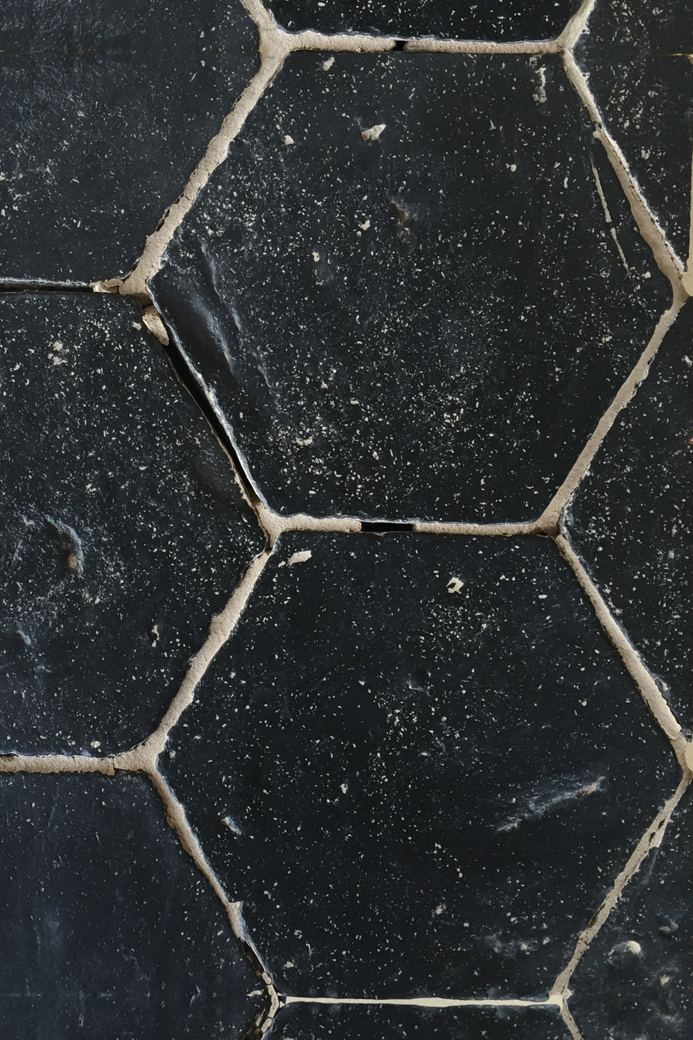 Hexagonal Black Kitchen Tile