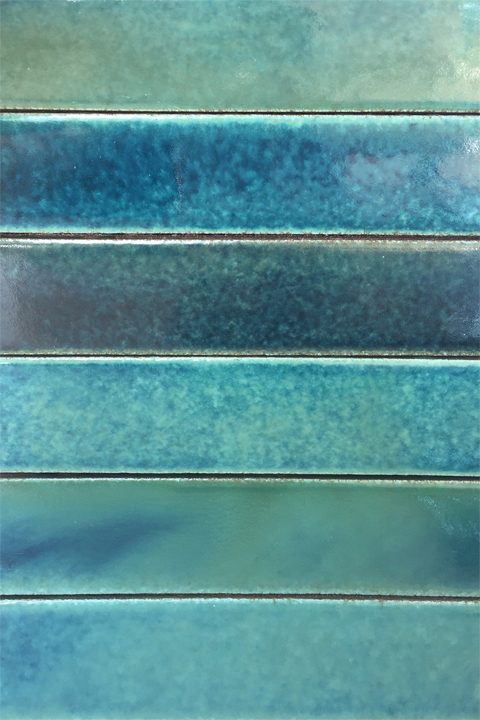Aqua Horizontal Bar Tile