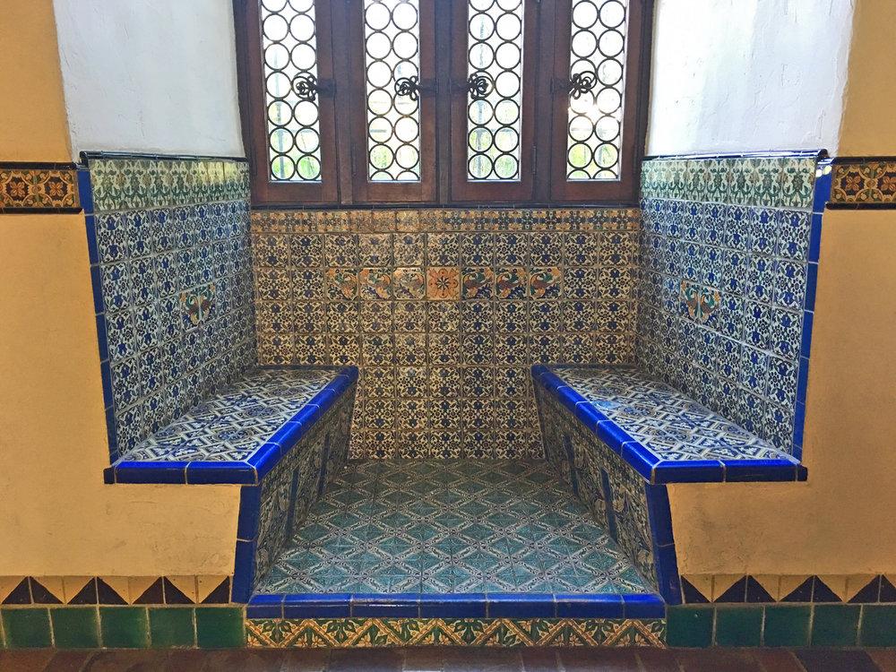blue+tiled+bench+statements+santa+fe