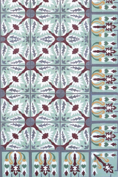 Patterned cement tile available at Statements.