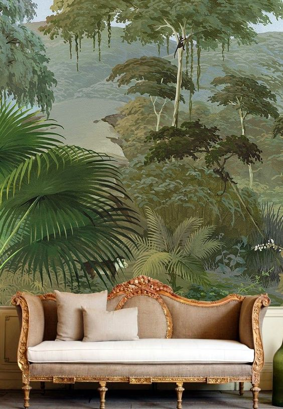 Dramatic wallpaper mural via Pinterest.