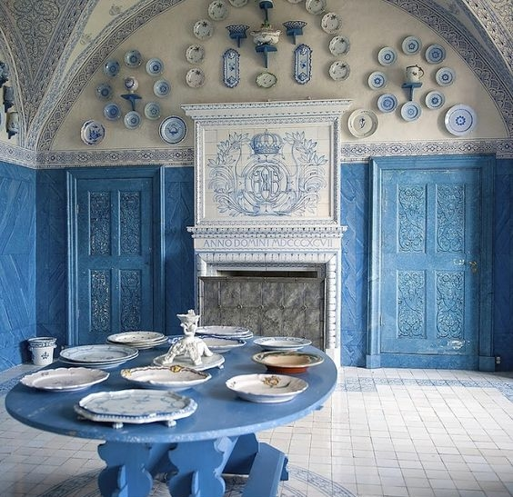 Historic dining room via Pinterest.