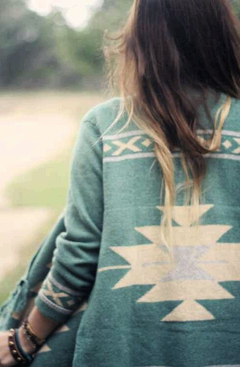 Southwest inspired jacket.