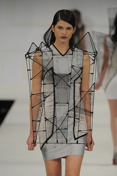 Wearable architectural fashion by Richard Sun.