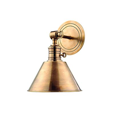 Bronze wall sconce.