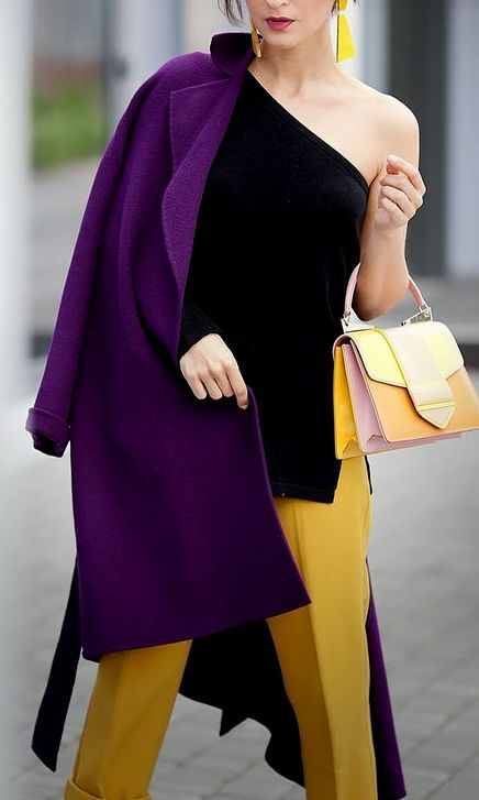 Purple coat, Styloholic.