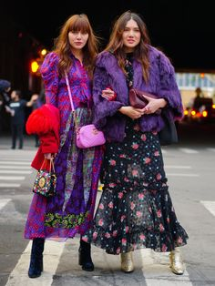 Best Street Style Moments From NYFW on Popsugar.com featuring Blogger Natalie Suarez (on left).