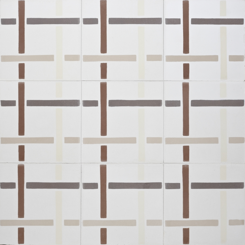 Cement tile, woven pattern, available in many colors.