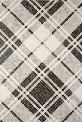 Plaid pattern mosaic tile.