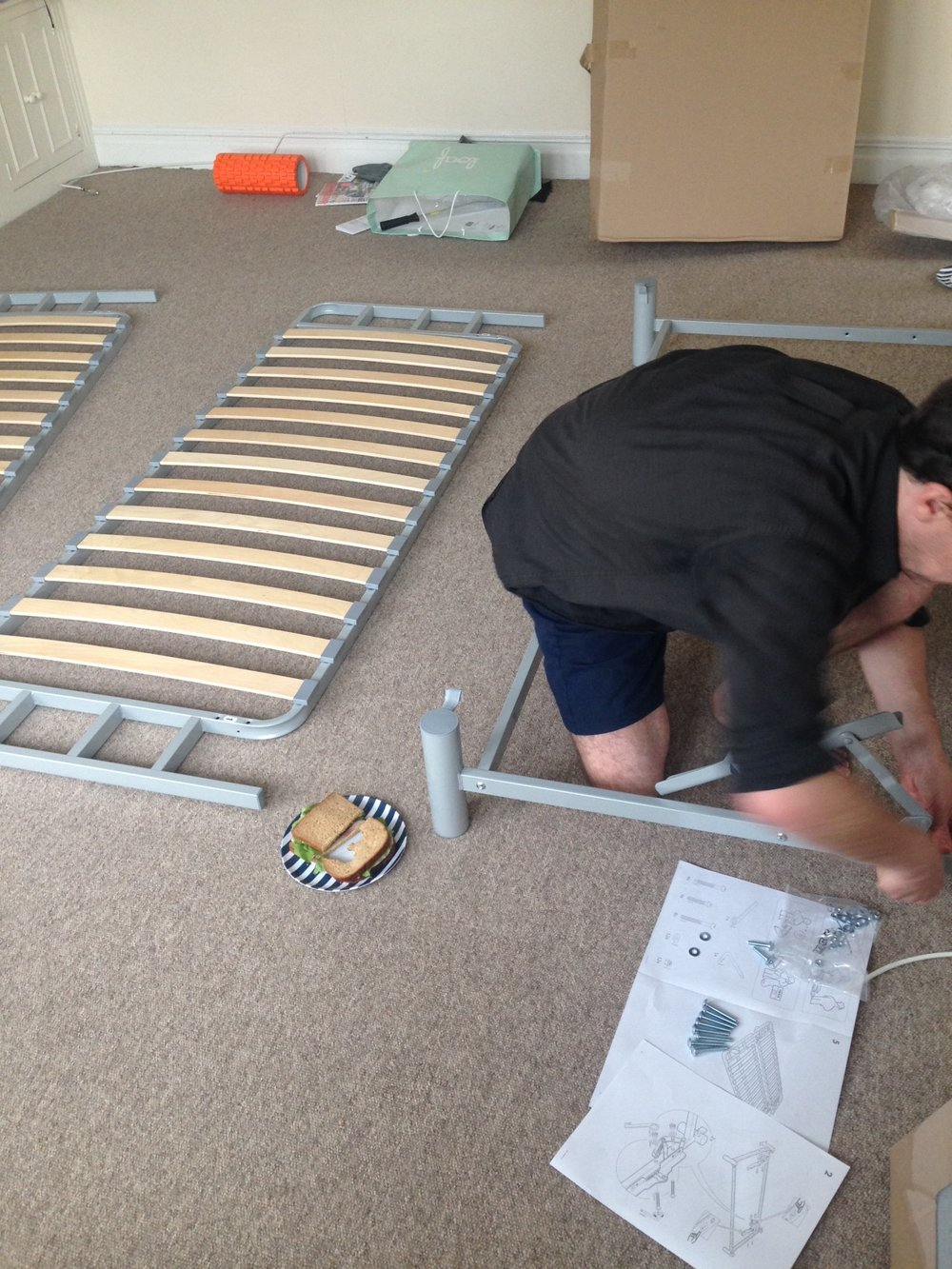 ^  Third Delivery: Couch building time.