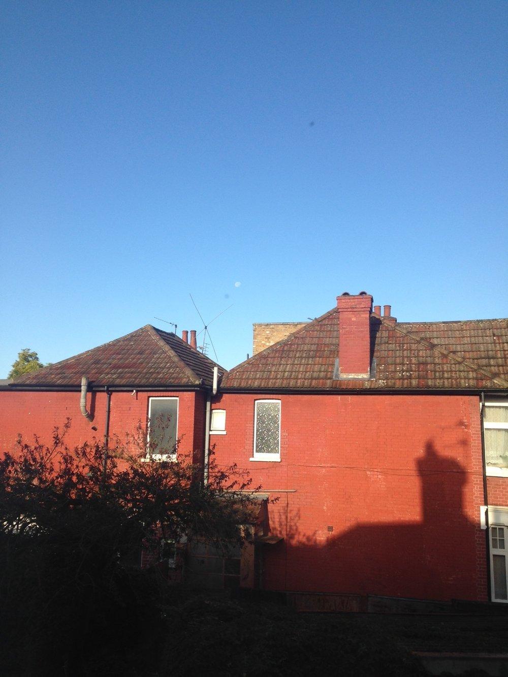 ^  Awoke to a sunny sky.