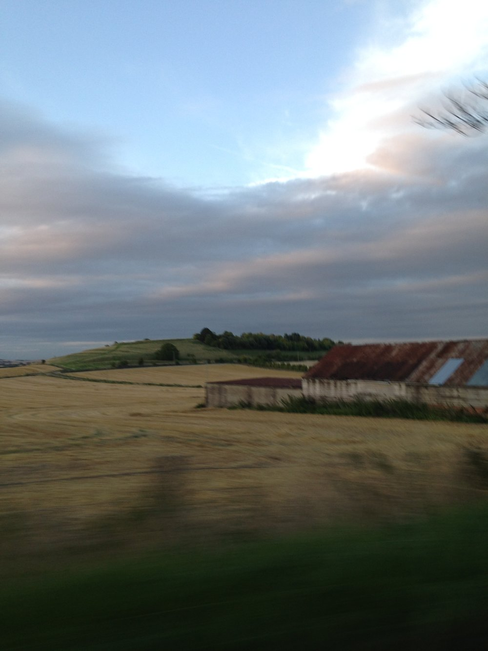 ^ Countryside whizzing by