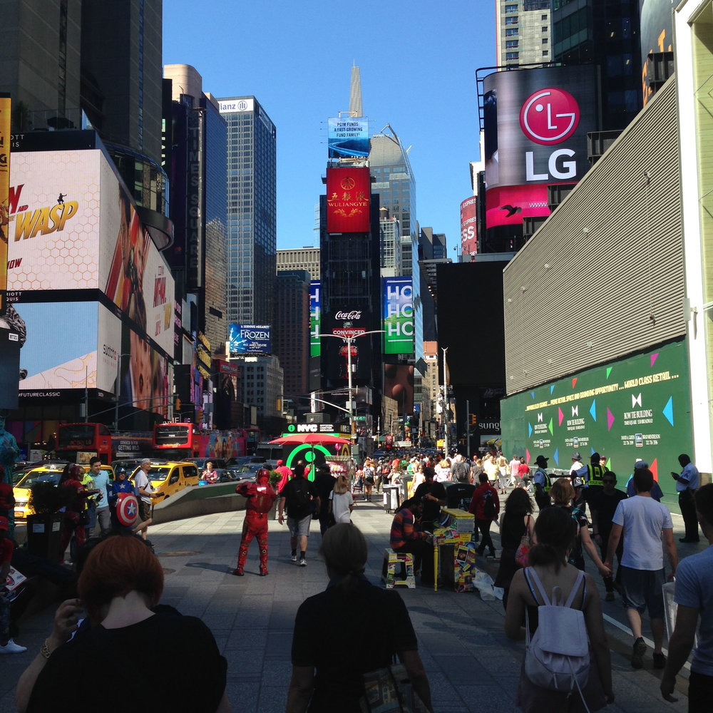 ^ Times Square