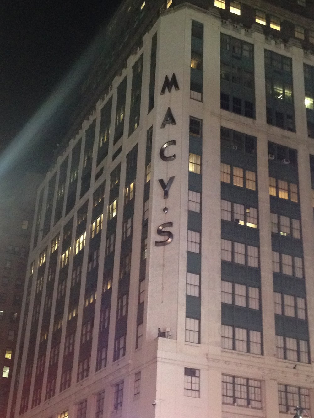 ^ Macys by night