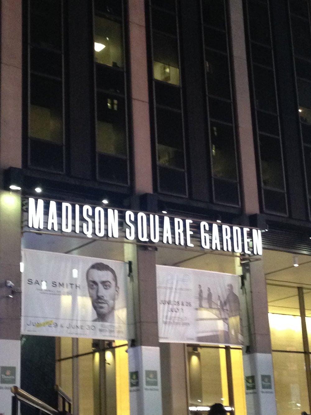 ^ Madison Sq. Garden