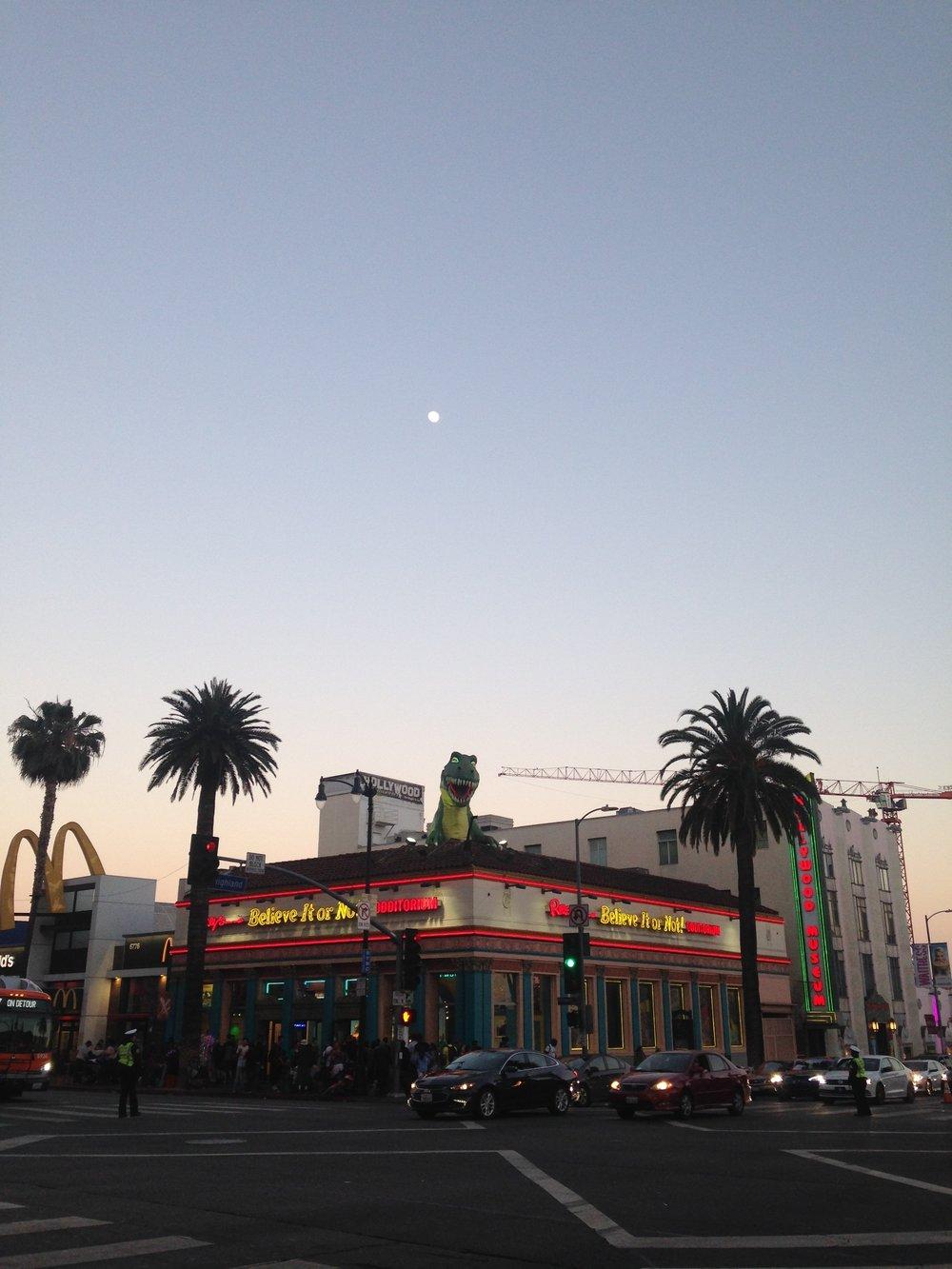 ^ Night sky over the Blvd