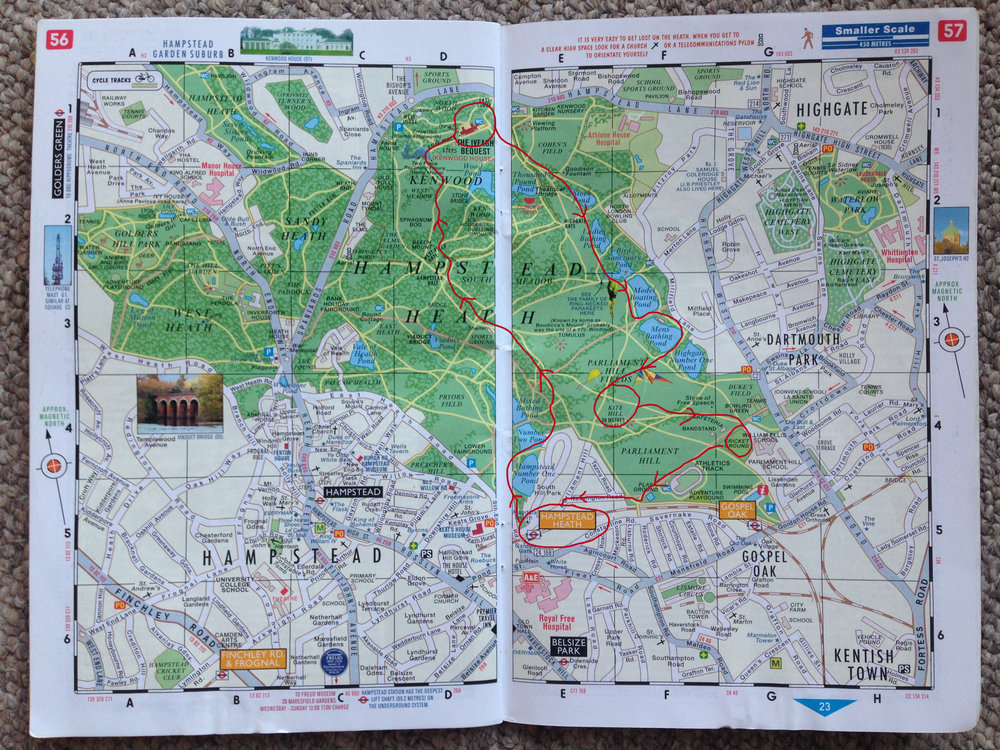 Our route... approx 5 kms
