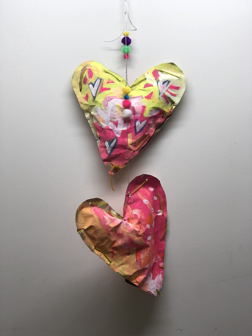 PAPER HEART ART INSTRUCTION
