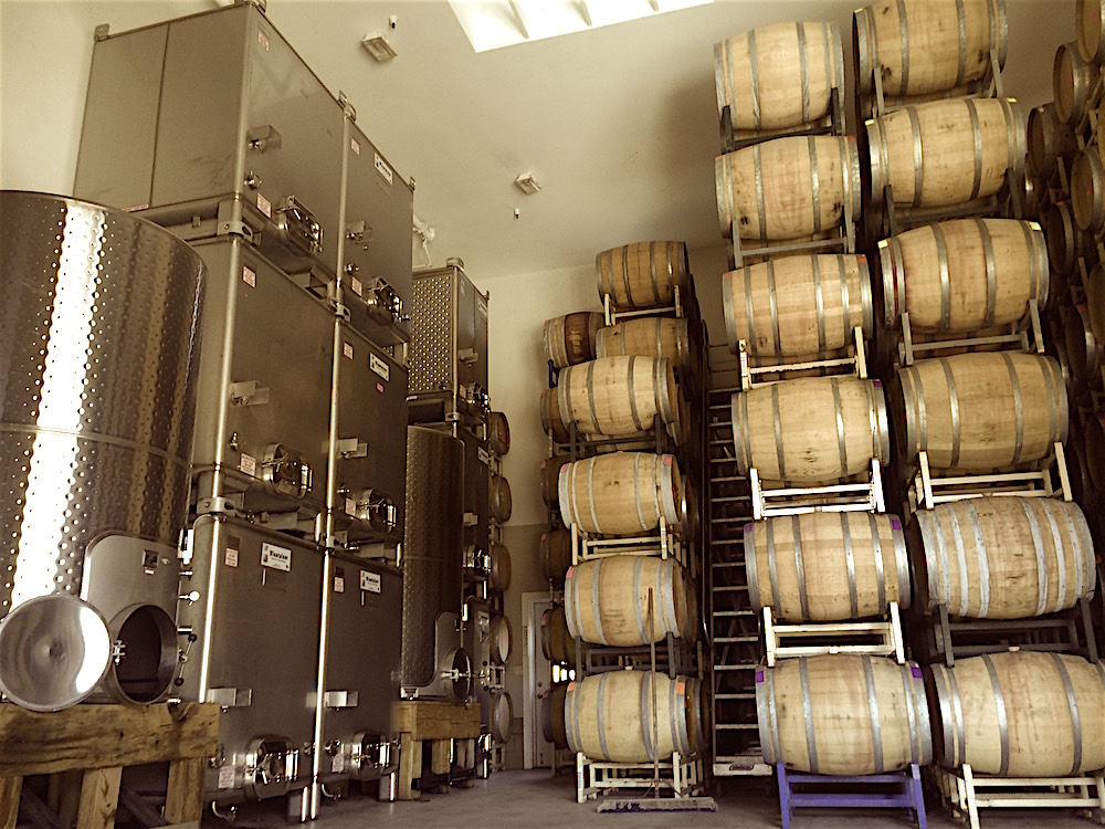 Photo by Pasquale  ...Left section of the barrel room