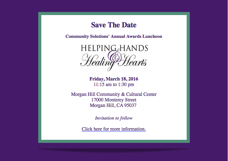 Community Solutions Award Luncheon