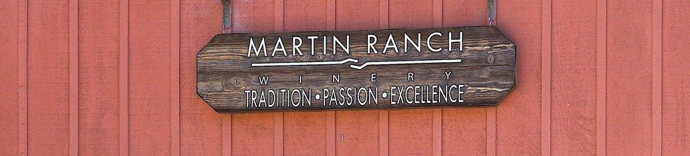 Martin Ranch Winery - Signage