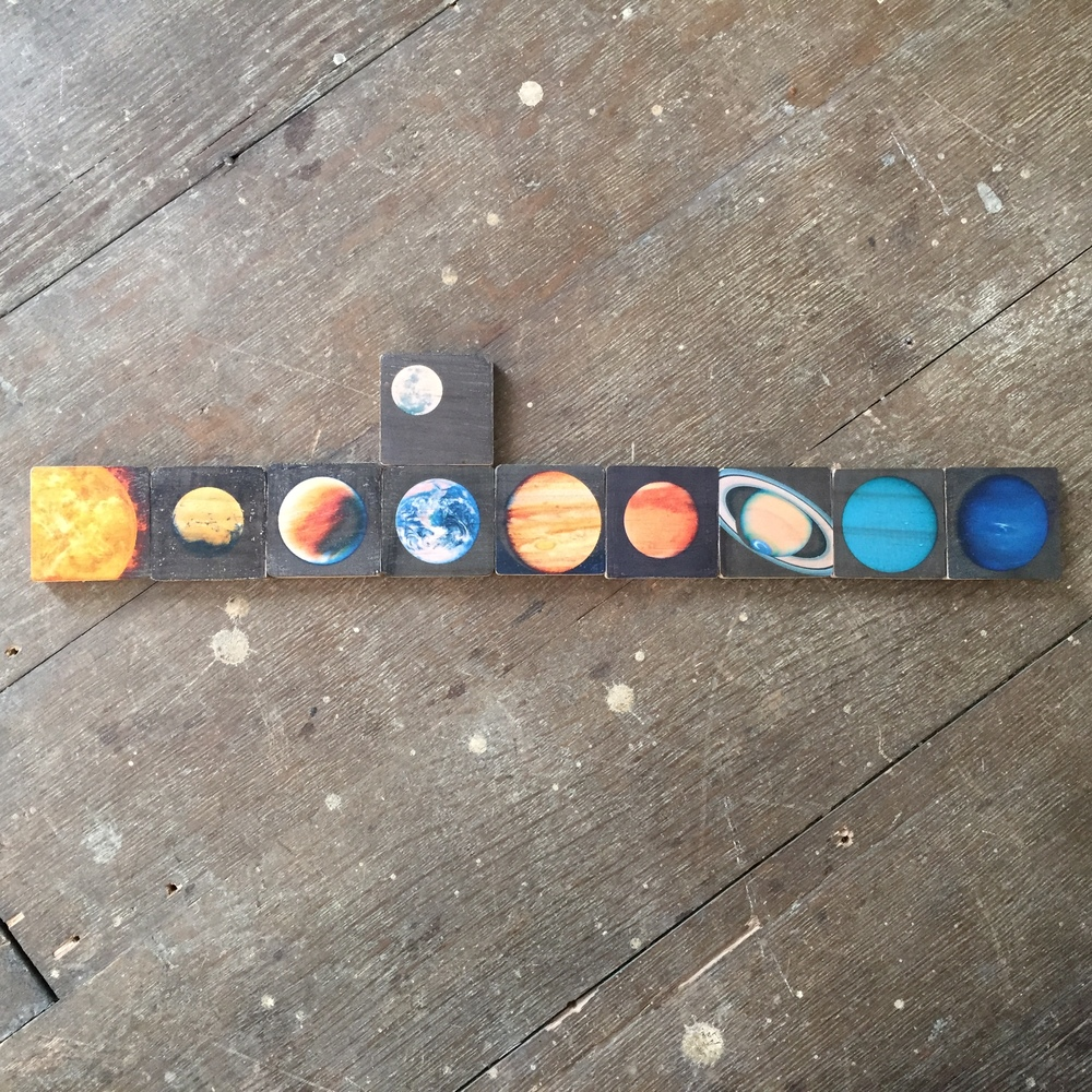 Solar System, set of 10 mini prints