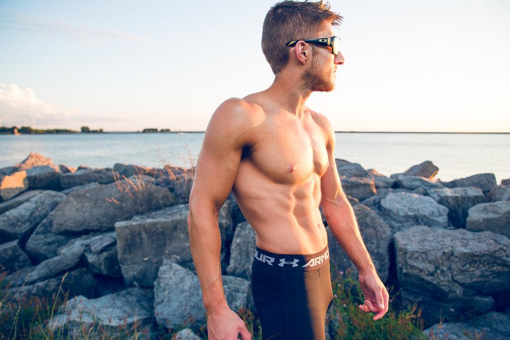 Bodybuilding Pose Sunset Buffalo NY
