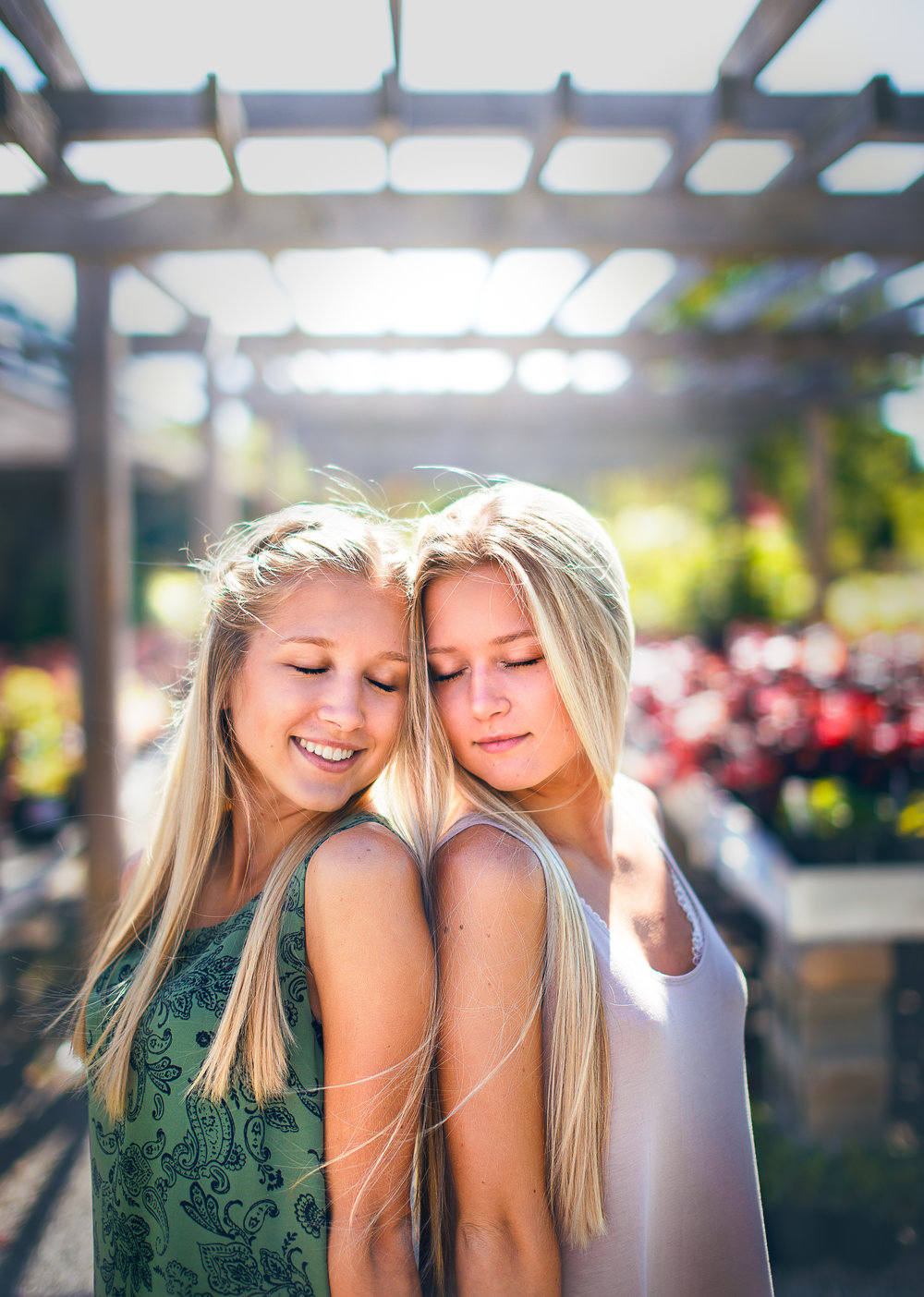Seniors Twins Outdoor Portraits