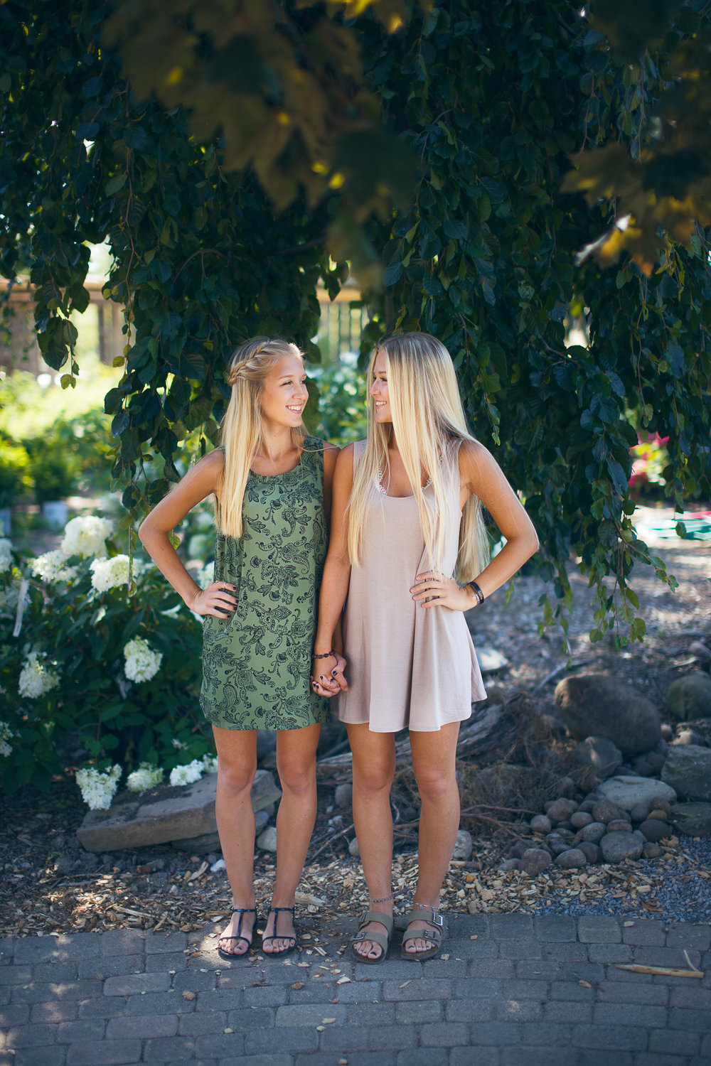 Summer Dress Senior Portraits Twins