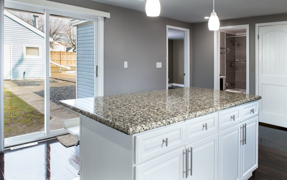 Sliding glass doors thru kitchen
