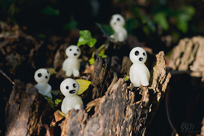 A magical photo of Kodama that ESandra sculpted out of beeswax