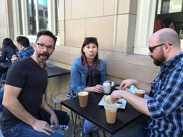 It was niceto step away from bustle of the conferenceto regroupover a coffee break atBlue Bottle.