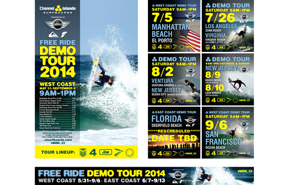 Channel Islands Surfboards 2014 Demo Tour