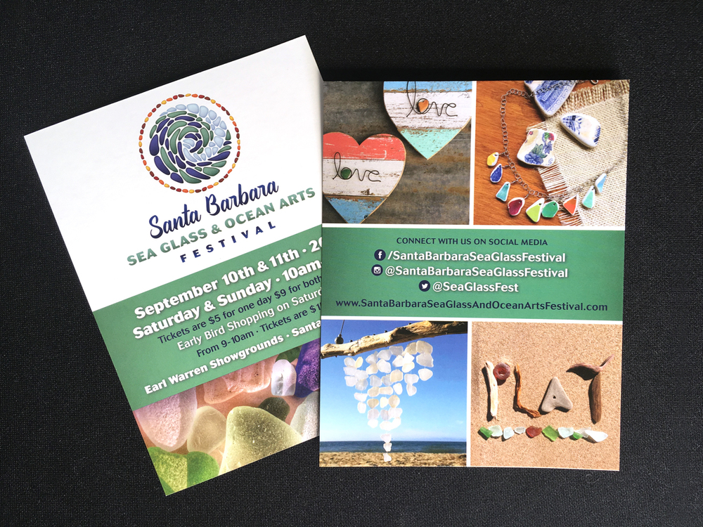 Santa Barbara Sea Glass & Ocean Arts Festival Postcards