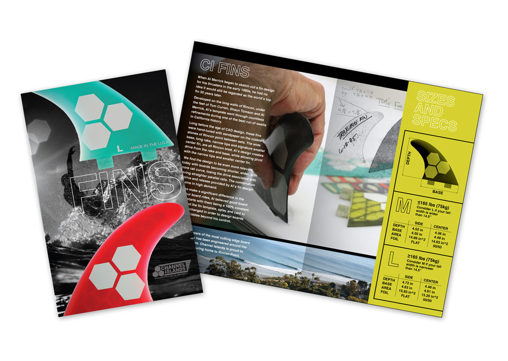 Channel Islands Surfboards Fin Brochure