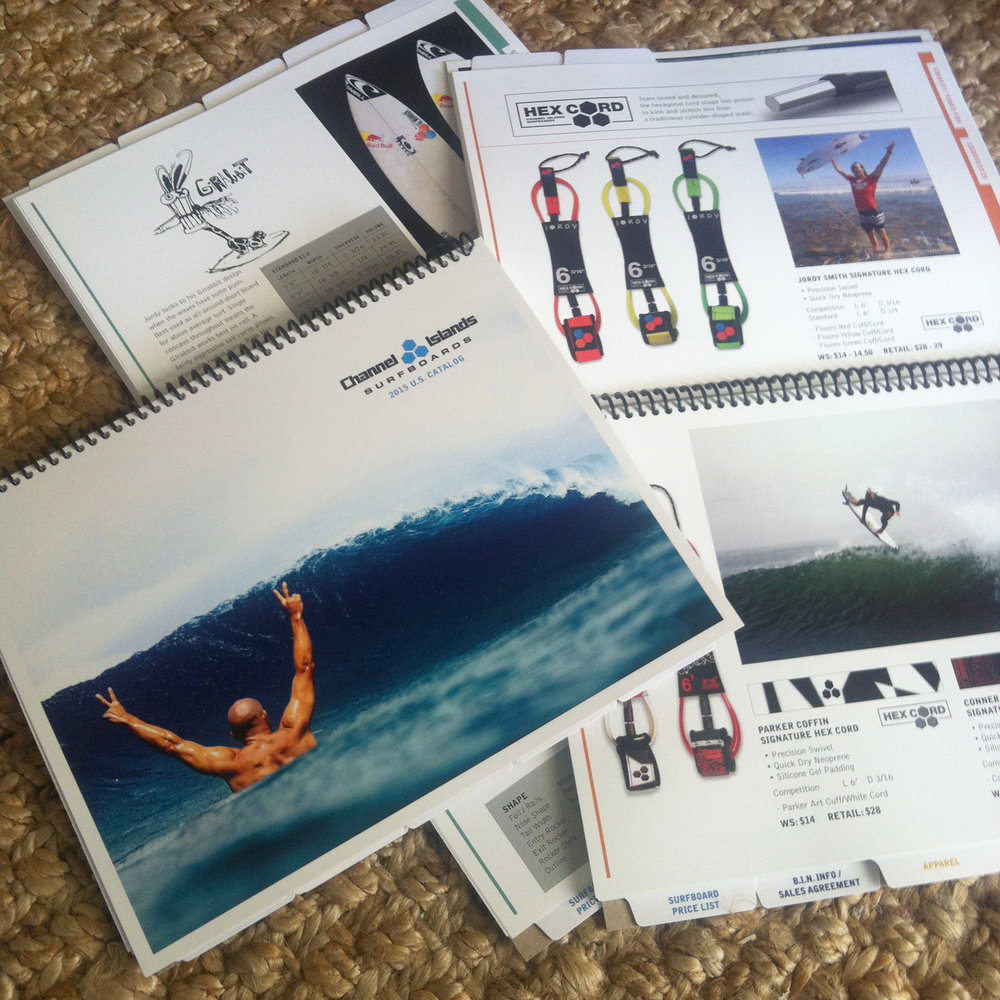 Channel Islands Surfboards Sales Catalog 2015