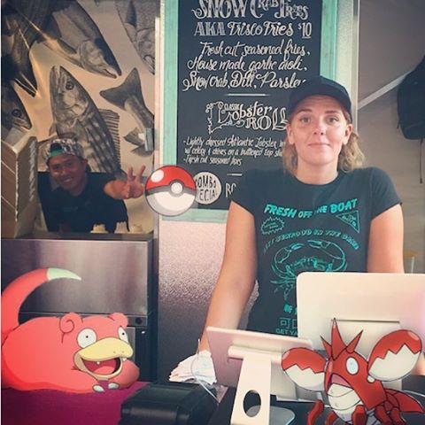 Help us #catchemall today at Union station Toronto!  #thesix #pokemango #pokemon #toronto #unionsummer #freshofftheboat #fotb416 #seafood #lobsterroll