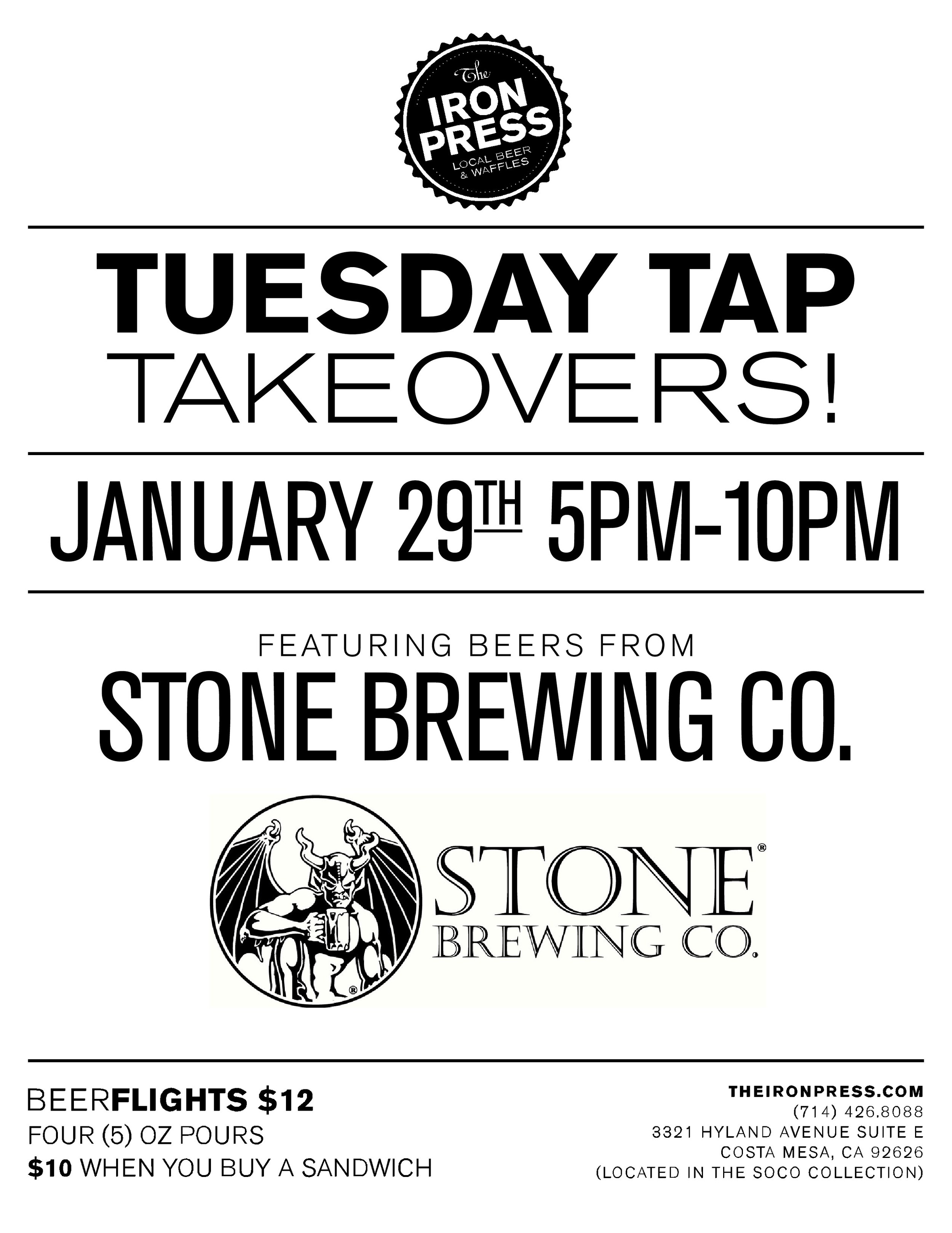 Tuesday Tap Takeovers - Stone Brewing .Co.