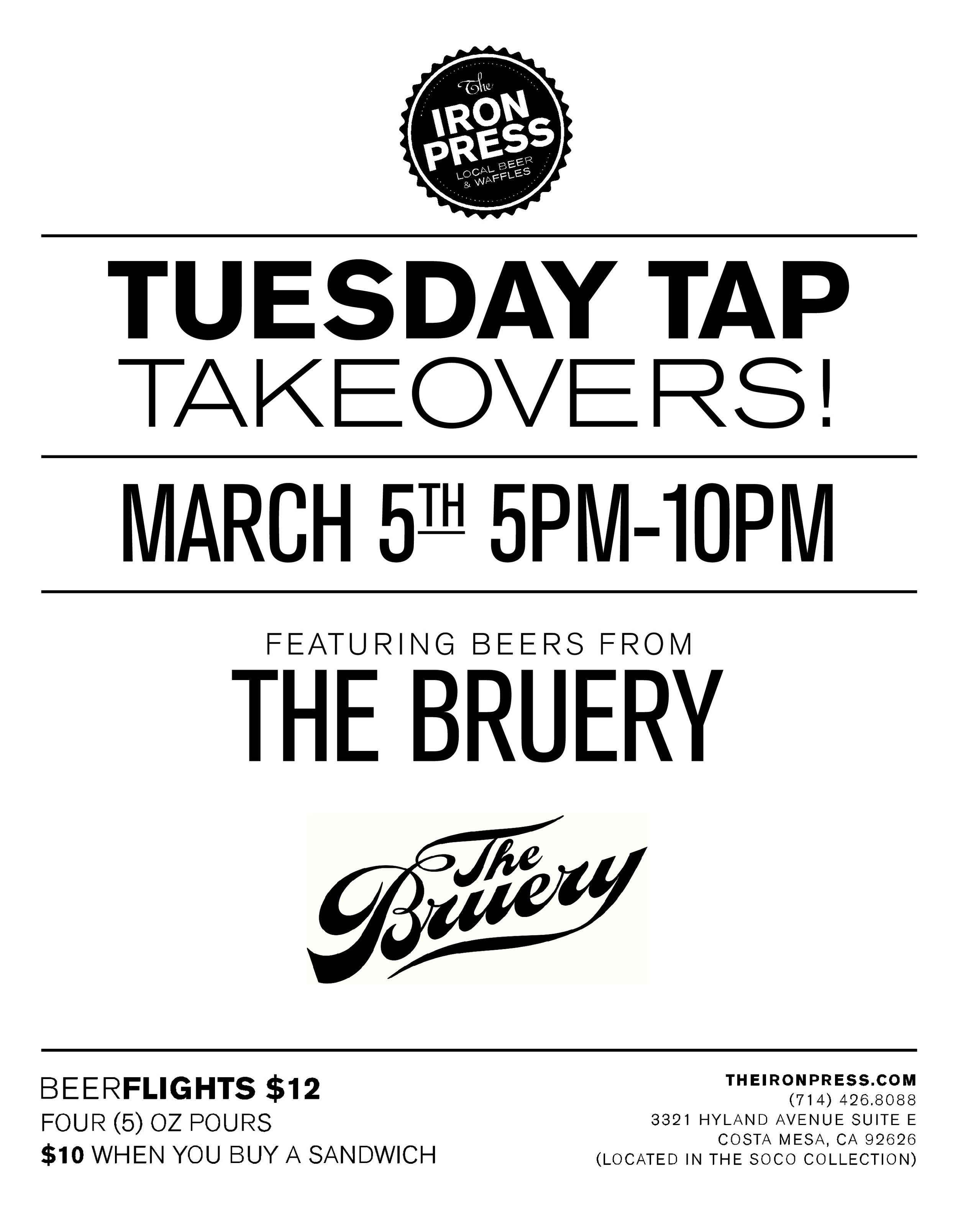 Tuesday Tap Takeovers - The Bruery