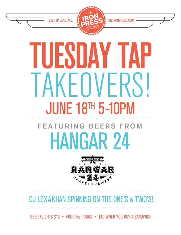 Tuesday Tap Takeovers – Hangar 24 Version 2.0