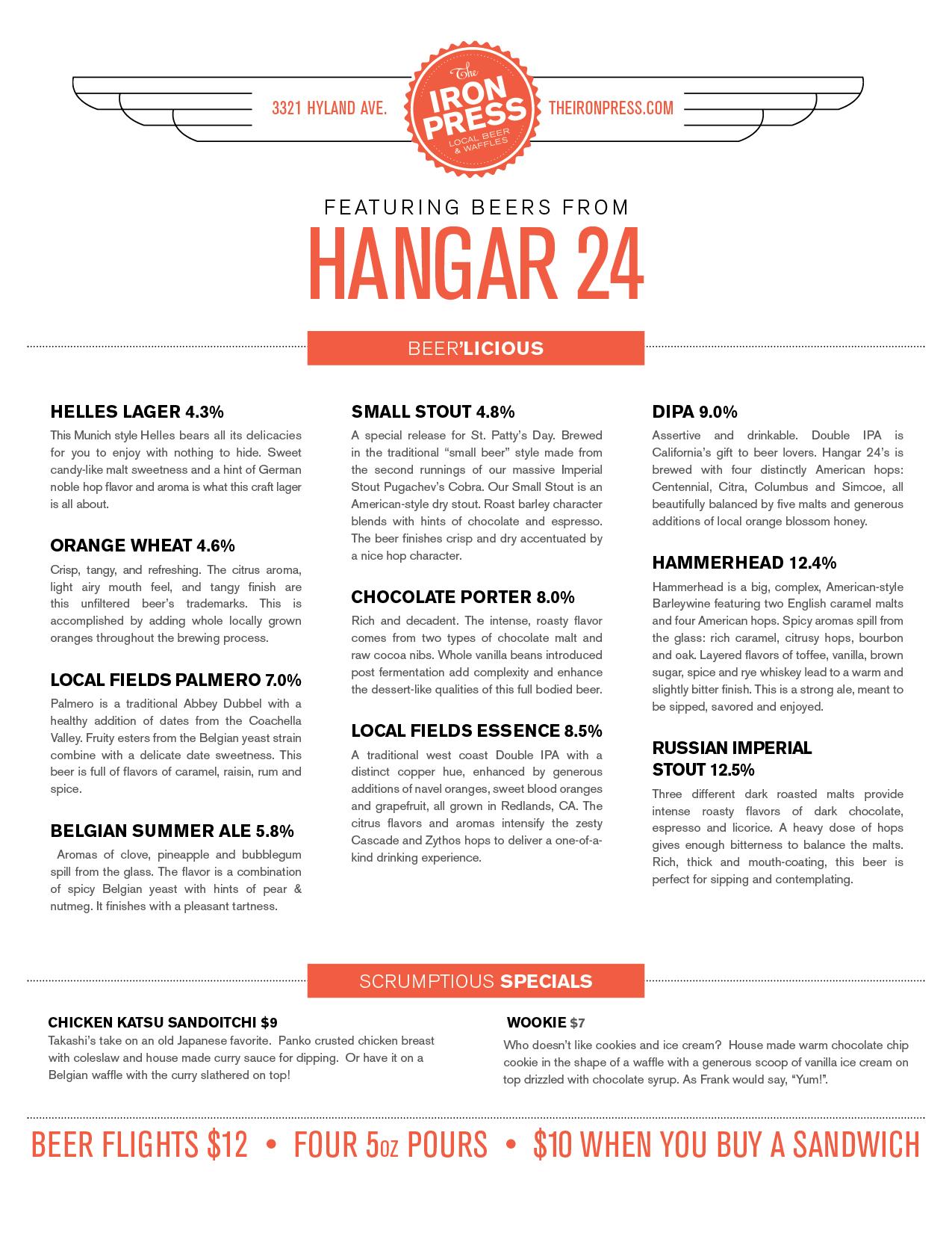 Hangar 24 x The Iron Press