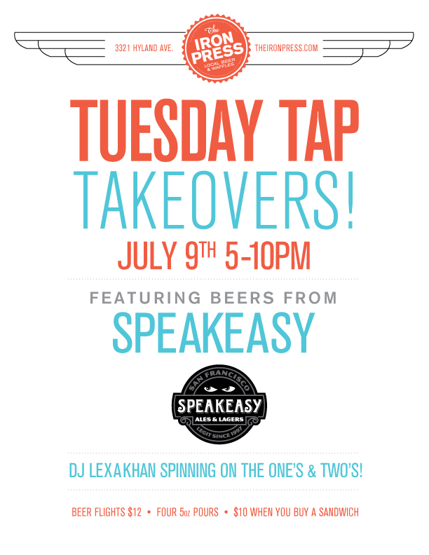 Tuesday Tap Takeovers - The Speakeasy Ales & Lagers Edition
