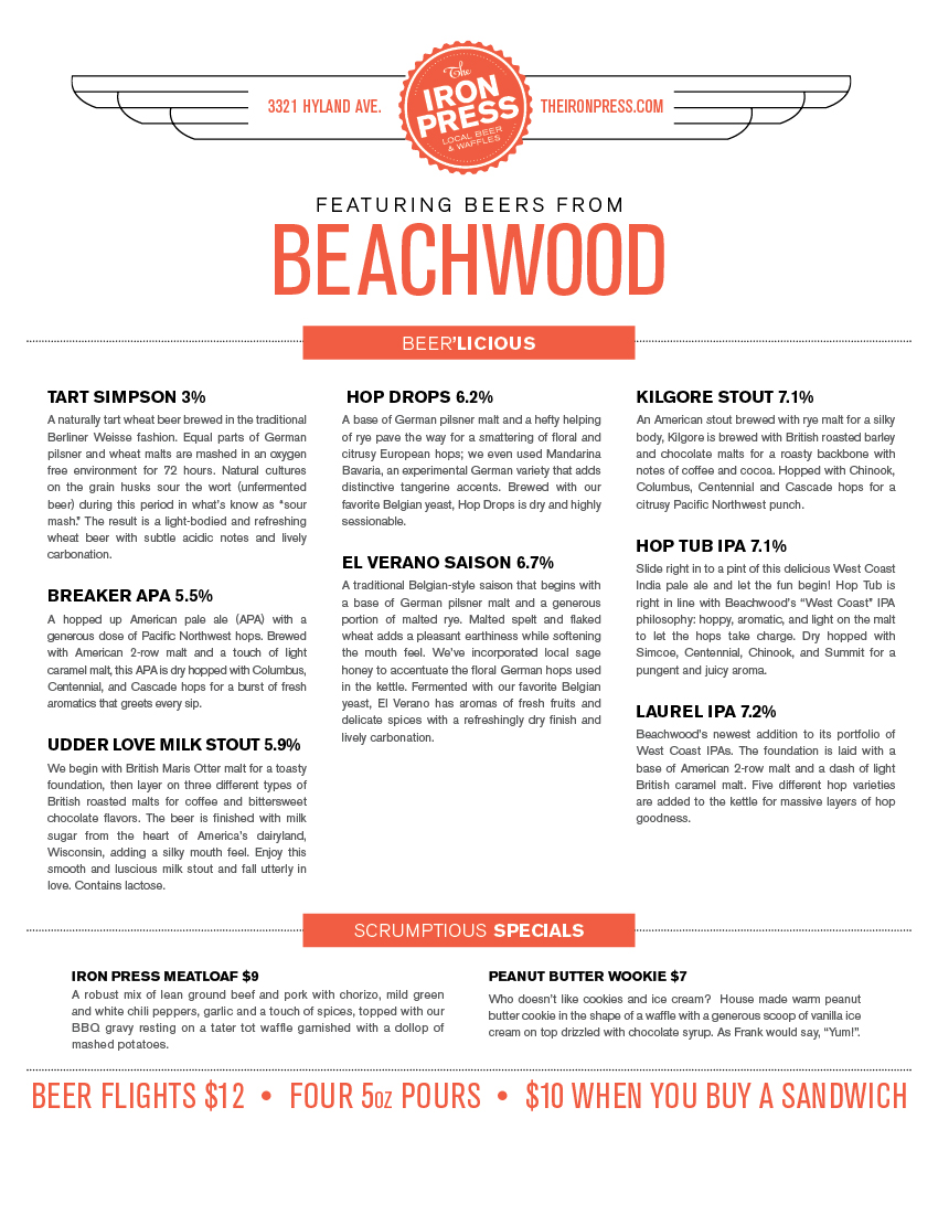 Beachwood x The Iron Press