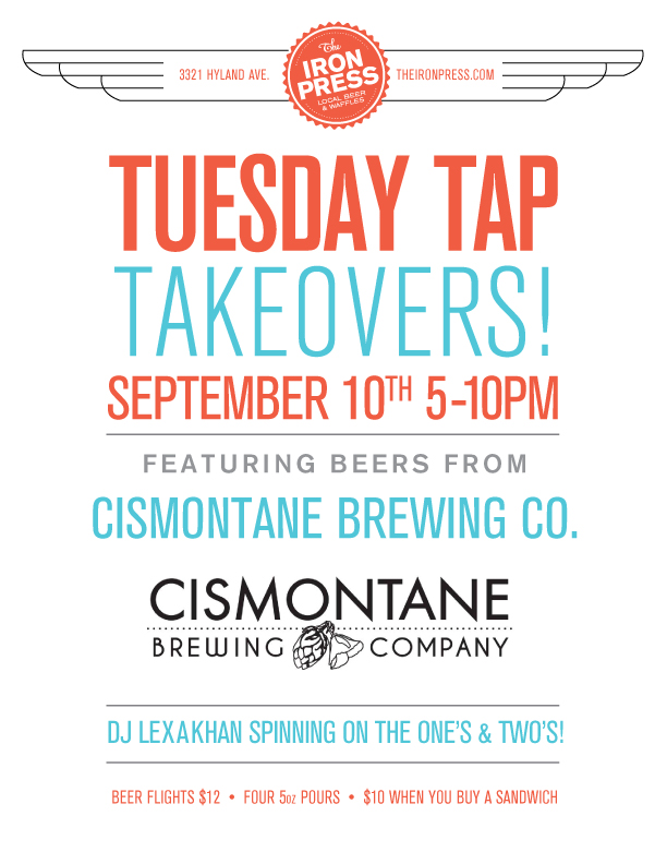 Tuesday Tap Takeovers - The Cismontane Edition
