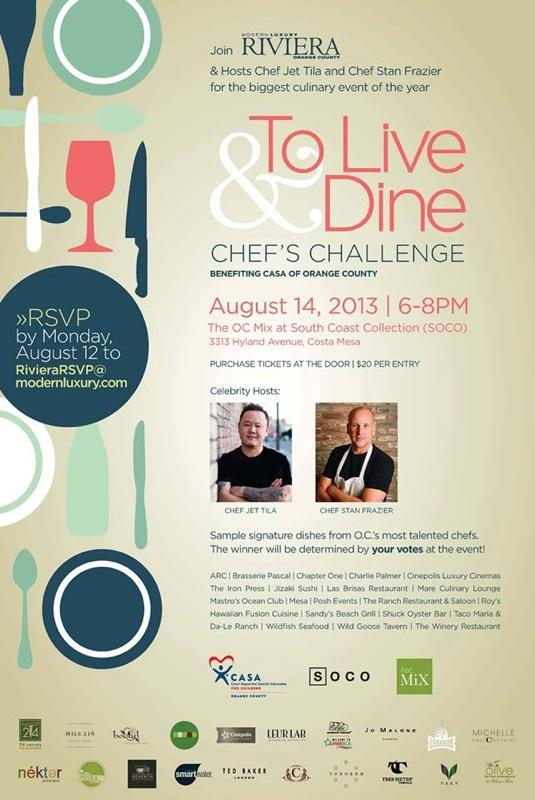 To Live & Dine Chef's Challenge