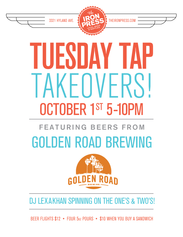 Tuesday Tap Takeovers - The Golden Road Brewing Edition