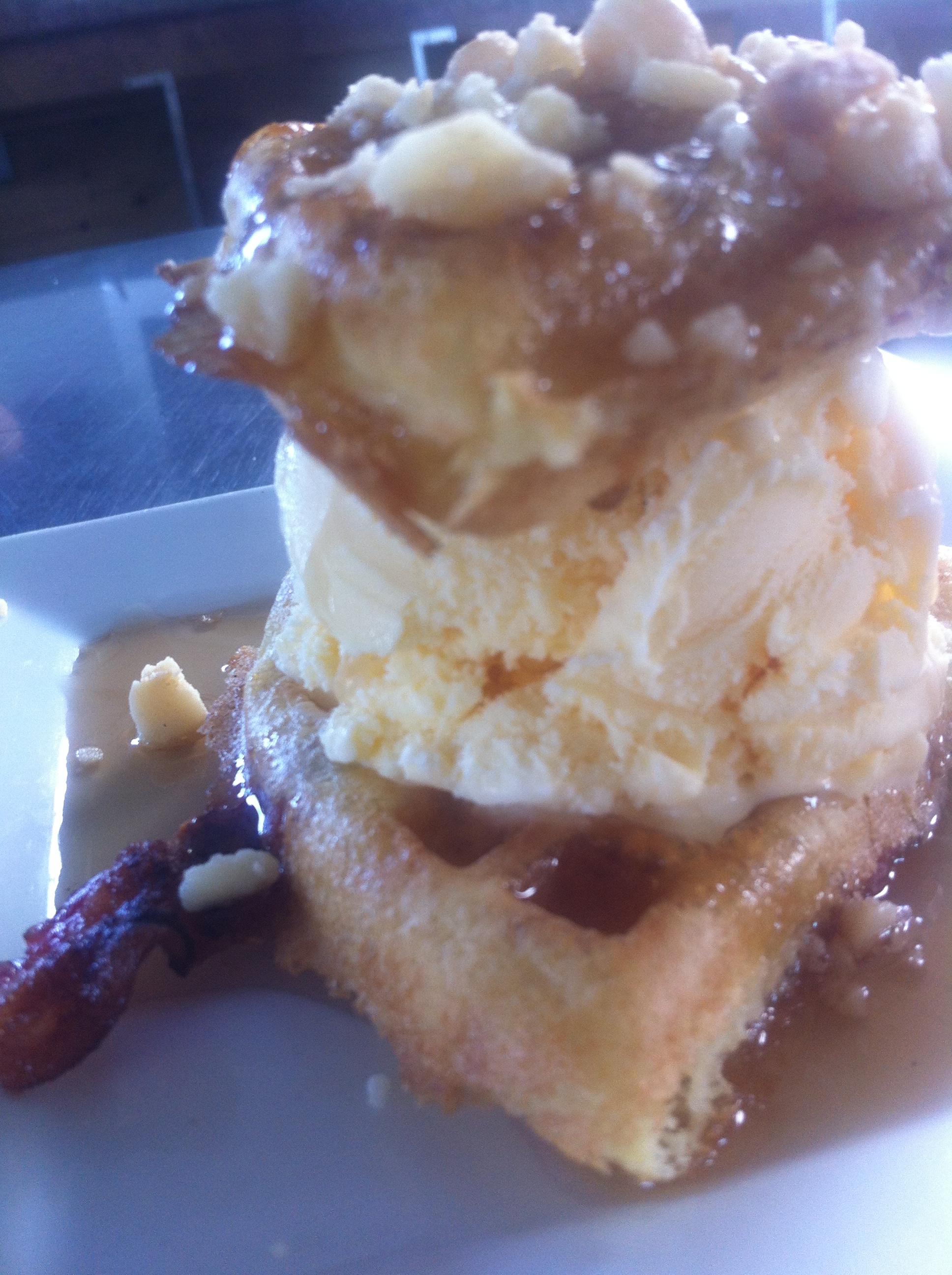 Ice Cream Bacon Waffle Sam-mich
